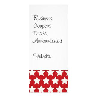 Patriotische rote und weiße Sternchen-Vereinbarung Werbekarten