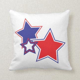 Patriotische rote weiße blaue Sterne Kissen