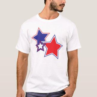 Patriotische rote weiße blaue Sterne T-Shirt