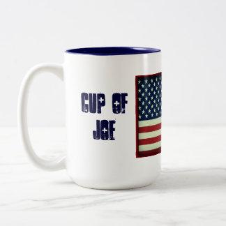 Patriotische Schale der Joe-GetränkeTasse Zweifarbige Tasse