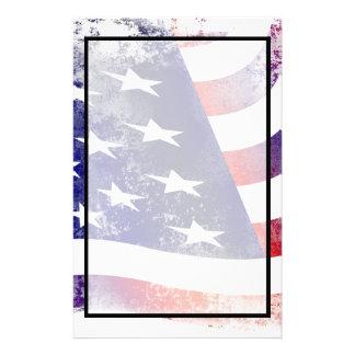 Patriotische Schmutz-Art verblaßte amerikanische Briefpapier