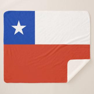 Patriotische Sherpa Decke mit Chileflagge Sherpadecke