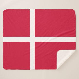 Patriotische Sherpa Decke mit Dänemark-Flagge Sherpadecke
