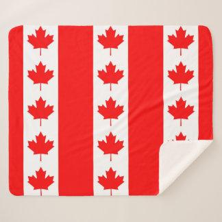 Patriotische Sherpa Decke mit Kanada-Flagge Sherpadecke