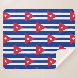 Patriotische Sherpa Decke mit Kuba-Flagge Sherpadecke