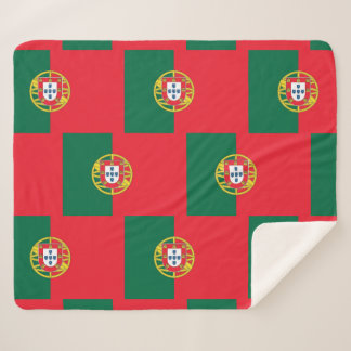 Patriotische Sherpa Decke mit Portugal-Flagge Sherpadecke