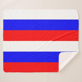 Patriotische Sherpa Decke mit Russland-Flagge Sherpadecke
