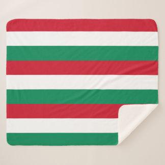 Patriotische Sherpa Decke mit Ungarn-Flagge Sherpadecke