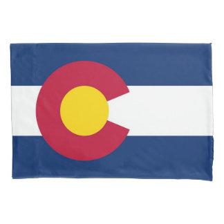 Patriotische Single-Kissenbezugflagge von Colorado Kissenbezug