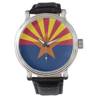 Patriotische, spezielle Uhr mit Flagge von Arizona