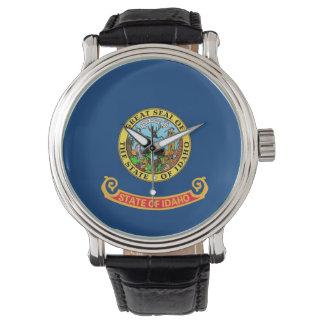Patriotische, spezielle Uhr mit Flagge von Idaho