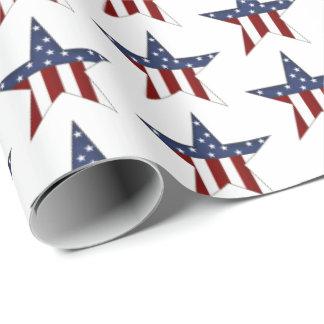 Patriotische Sterne mit Ziegeln gedeckte Geschenkpapier