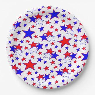 Patriotische Sterne Pappteller