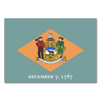 Patriotische Tabellenkarte mit Flagge von Delaware Karte