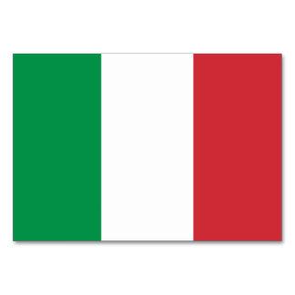 Patriotische Tabellenkarte mit Flagge von Italien Karte