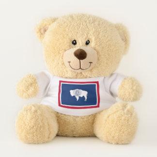Patriotische Teddy-Bärnflagge von Wyoming-Staat, Teddybär