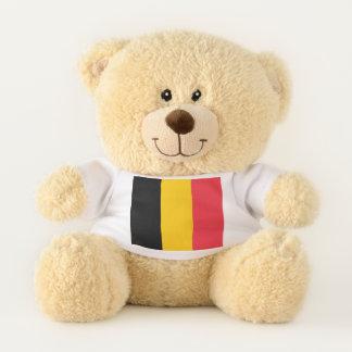 Patriotische Teddybärflagge von Belgien Teddybär