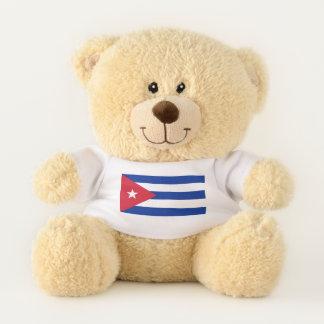 Patriotische Teddybärflagge von Kuba Teddybär