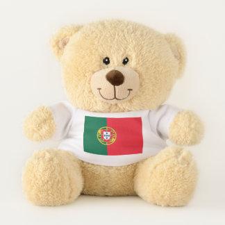 Patriotische Teddybärflagge von Portugal Teddybär