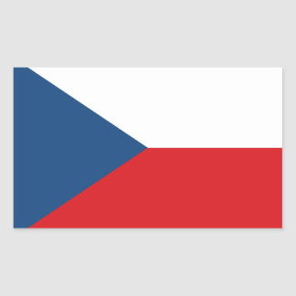 Patriotische Tschechische Republik-Flagge Rechteckiger Aufkleber