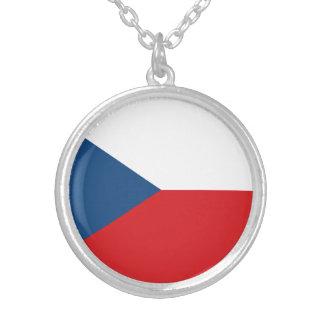 Patriotische Tschechische Republik-Flagge Versilberte Kette