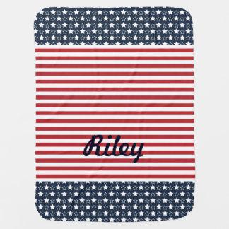Patriotische US Flagge-Baby-Decke Babydecken