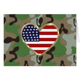 Patriotische USA-Camouflage Karte