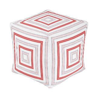 Patriotische USA-Farben in den geometrischen Kubus Sitzpuff