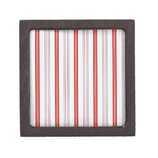 Patriotische USA-Farben in den vertikalen Streifen Kiste