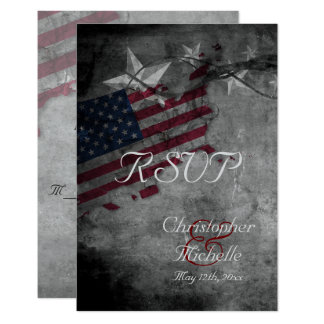 Patriotische USA-Flagge mit den Sternen, die UAWG 8,9 X 12,7 Cm Einladungskarte