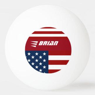 patriotische USA-Flagge personalisiert Tischtennis Ball