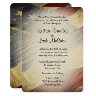 Patriotische USA-Flaggen-Hochzeits-Einladungen Karte