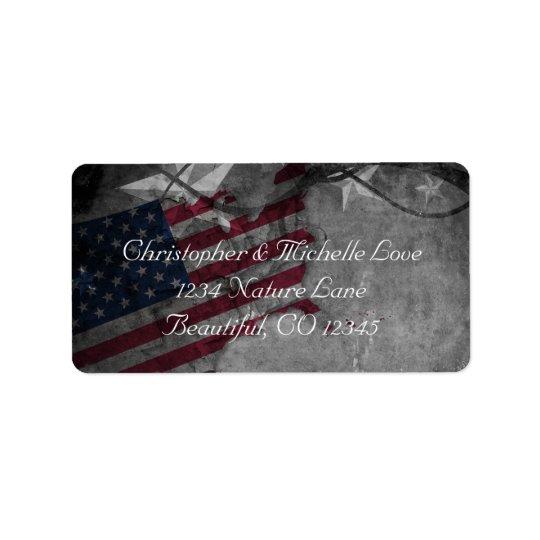 Patriotische Vereinigte Staaten kennzeichnen und Adressaufkleber