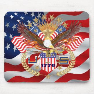 Patriotische Wahl-Ansicht über Entwurf Mousepad