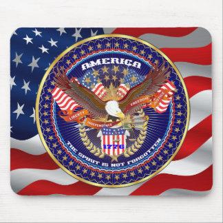 Patriotische Wahl-Ansicht über Entwurf Mousepads