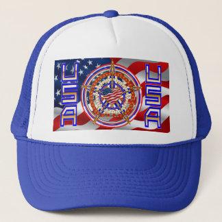 Patriotische Wahl-Ansicht über Entwurf Truckerkappe