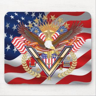 Patriotische Wahl-Veteranen-Ansicht über Entwurf Mauspads