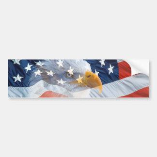 Patriotische Weißkopfseeadler-amerikanische Flagge Autoaufkleber