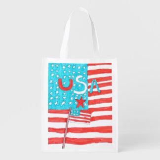 Patriotische wiederverwendbare Tasche Tragetasche