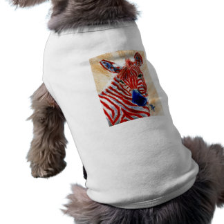 Patriotische Zebra-Haustier-Kleidung Shirt