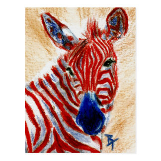 Patriotische Zebra-Postkarte Postkarte