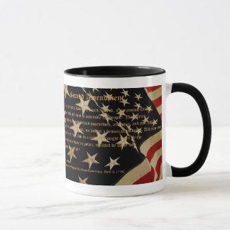 Patriotische zweite Änderungs-Kaffee-Tasse Tasse