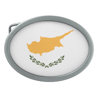 Patriotische Zypern-Flagge Ovale Gürtelschnalle