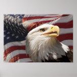 Patriotischer Adler-Leinwand-Druck