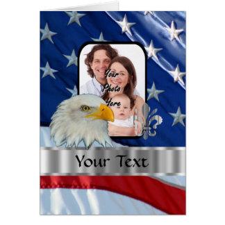 Patriotischer amerikanischer Adler Grußkarte
