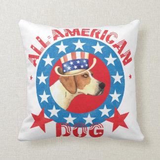 Patriotischer amerikanischer Foxhound Kissen