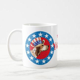 Patriotischer amerikanisches EnglischCoonhound Kaffeetasse