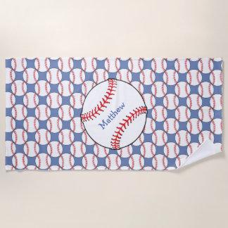 Patriotischer Baseball trägt Badetuch zur Schau