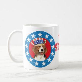 Patriotischer Beagle Kaffeetasse