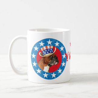 Patriotischer Boxer Kaffeetasse